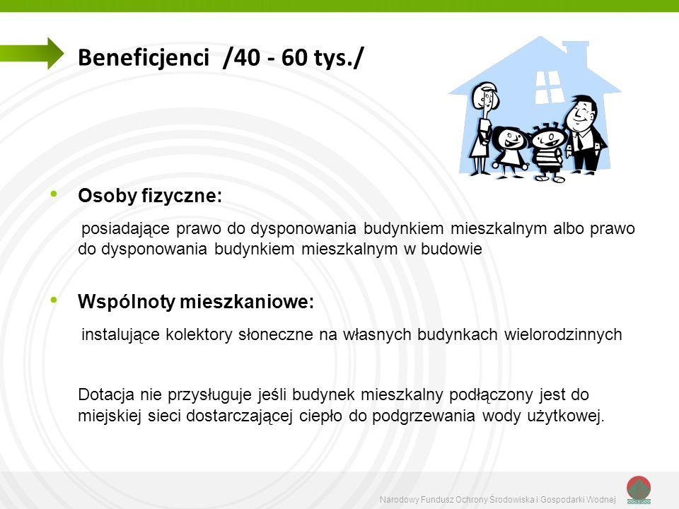 Beneficjenci /40 - 60 tys./ Osoby fizyczne: