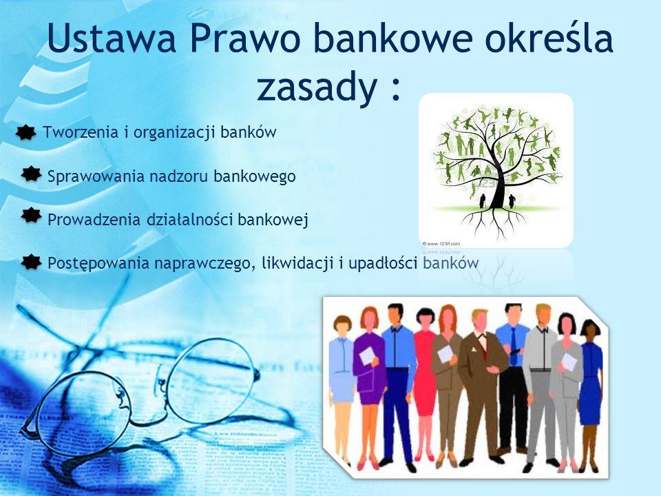 Ustawa Prawo bankowe określa zasady :