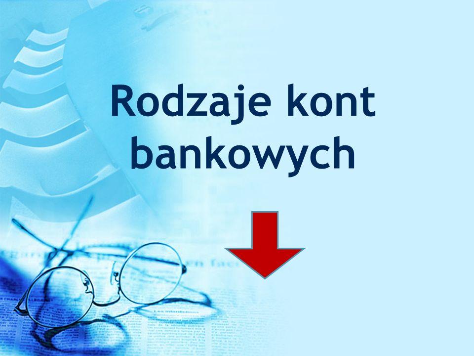 Rodzaje kont bankowych