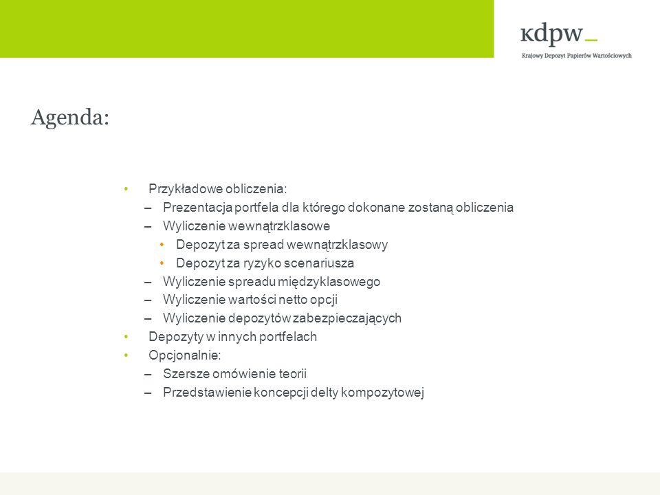 Agenda: Przykładowe obliczenia: