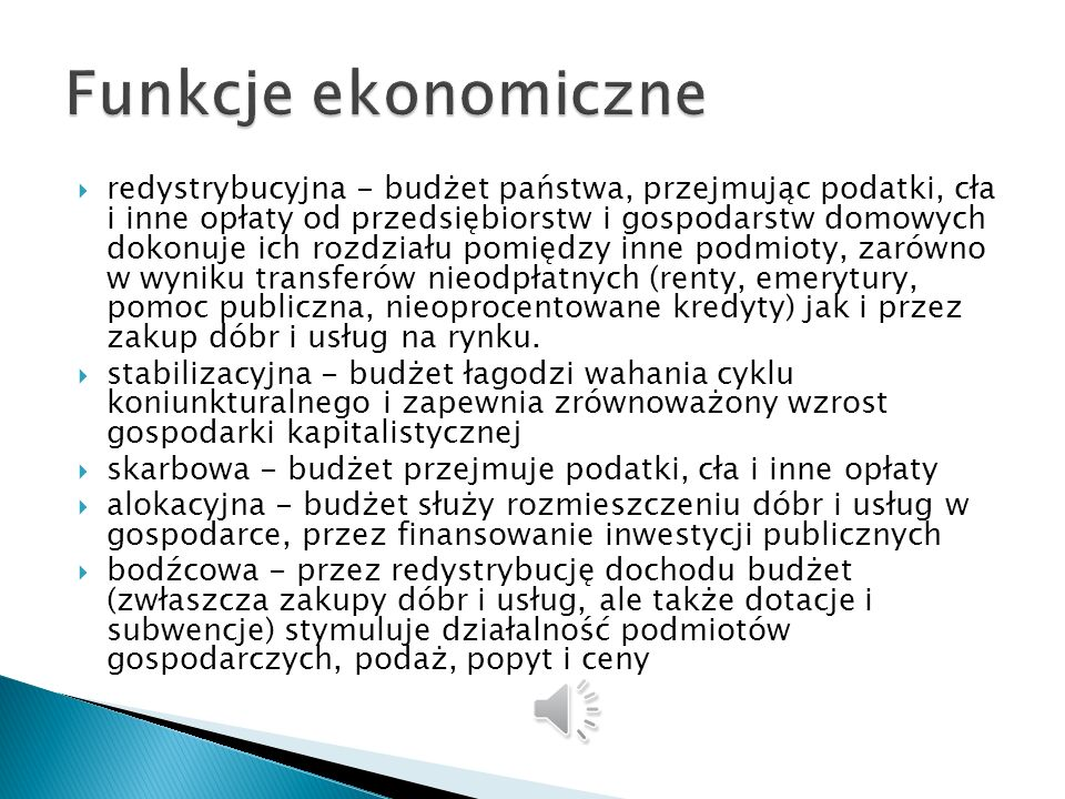Funkcje ekonomiczne