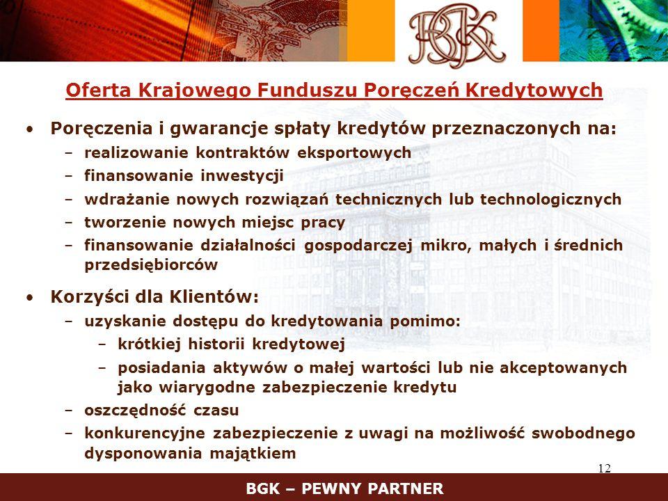 Oferta Krajowego Funduszu Poręczeń Kredytowych