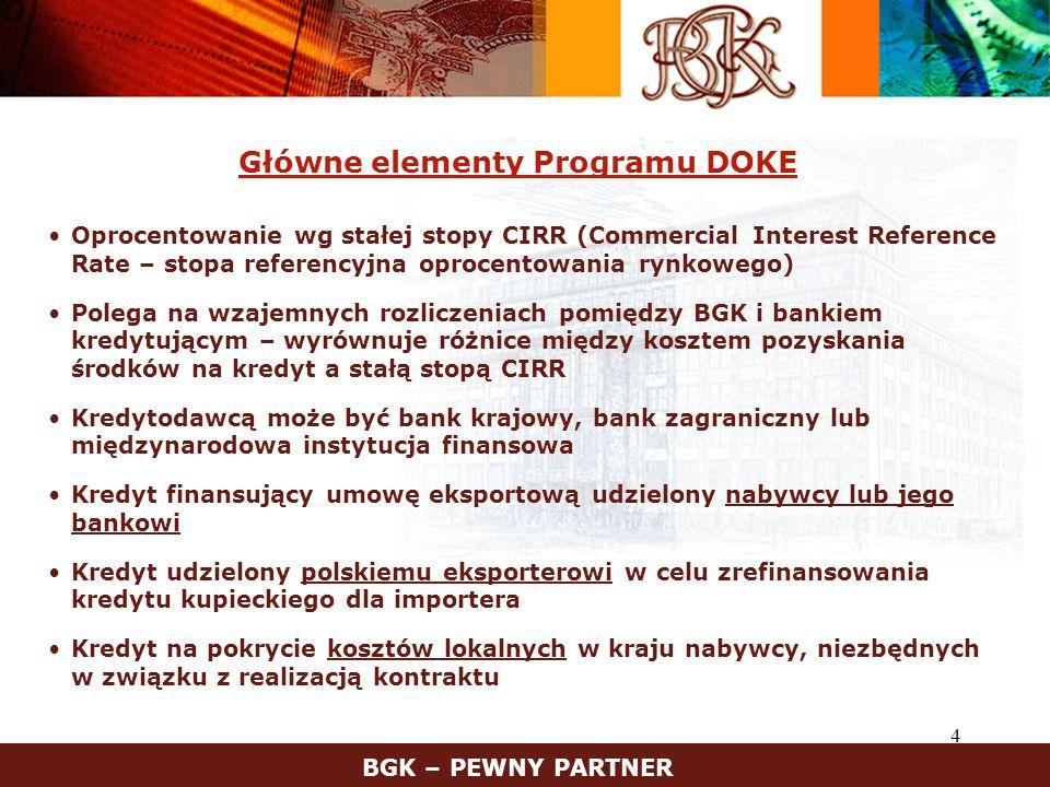 Główne elementy Programu DOKE