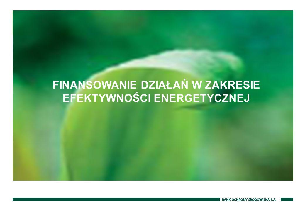 FINANSOWANIE DZIAŁAŃ W ZAKRESIE EFEKTYWNOŚCI ENERGETYCZNEJ