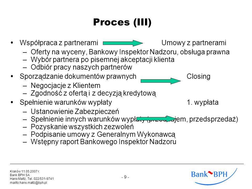 Proces (III) Współpraca z partnerami Umowy z partnerami