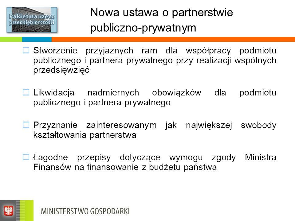 Nowa ustawa o partnerstwie publiczno-prywatnym