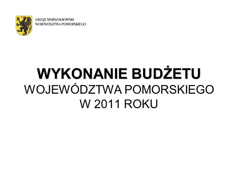 WYKONANIE BUDŻETU WOJEWÓDZTWA POMORSKIEGO W 2011 ROKU