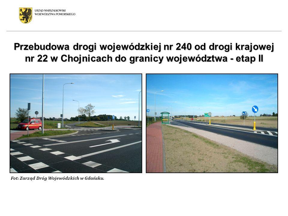 Przebudowa drogi wojewódzkiej nr 240 od drogi krajowej