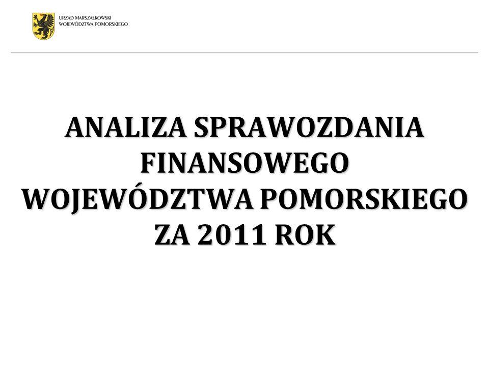 ANALIZA SPRAWOZDANIA FINANSOWEGO WOJEWÓDZTWA POMORSKIEGO ZA 2011 ROK