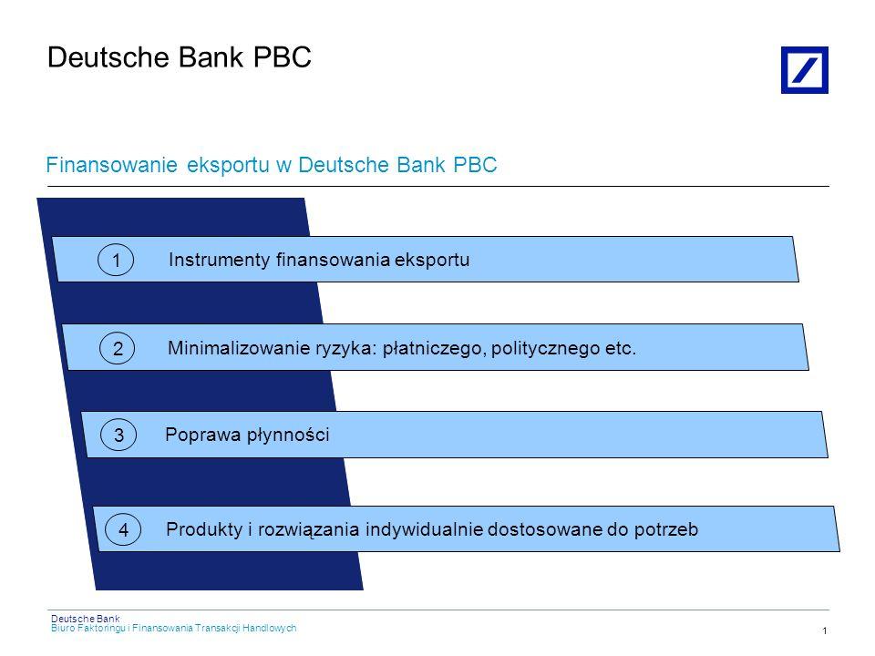 Deutsche Bank PBC Finansowanie eksportu w Deutsche Bank PBC