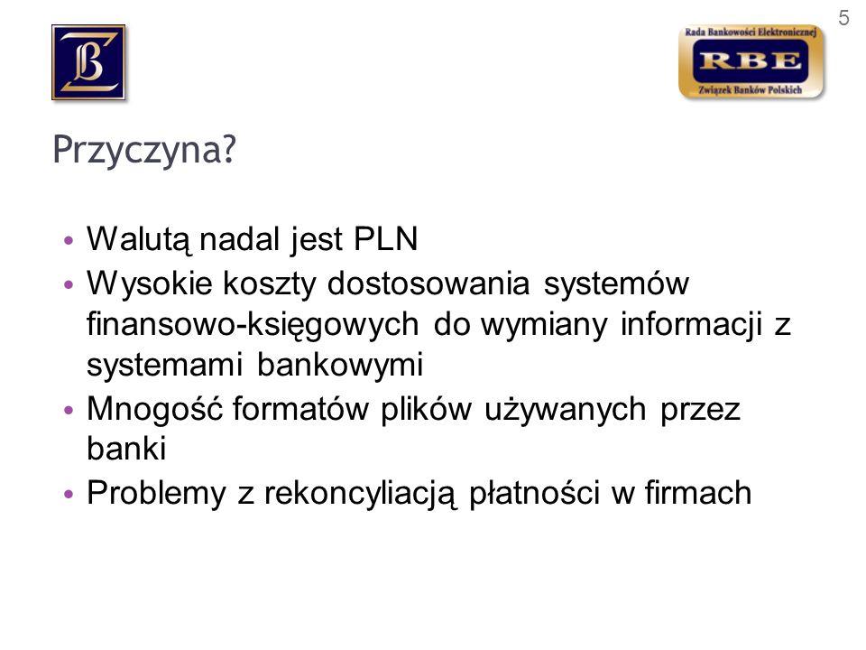 Przyczyna Walutą nadal jest PLN