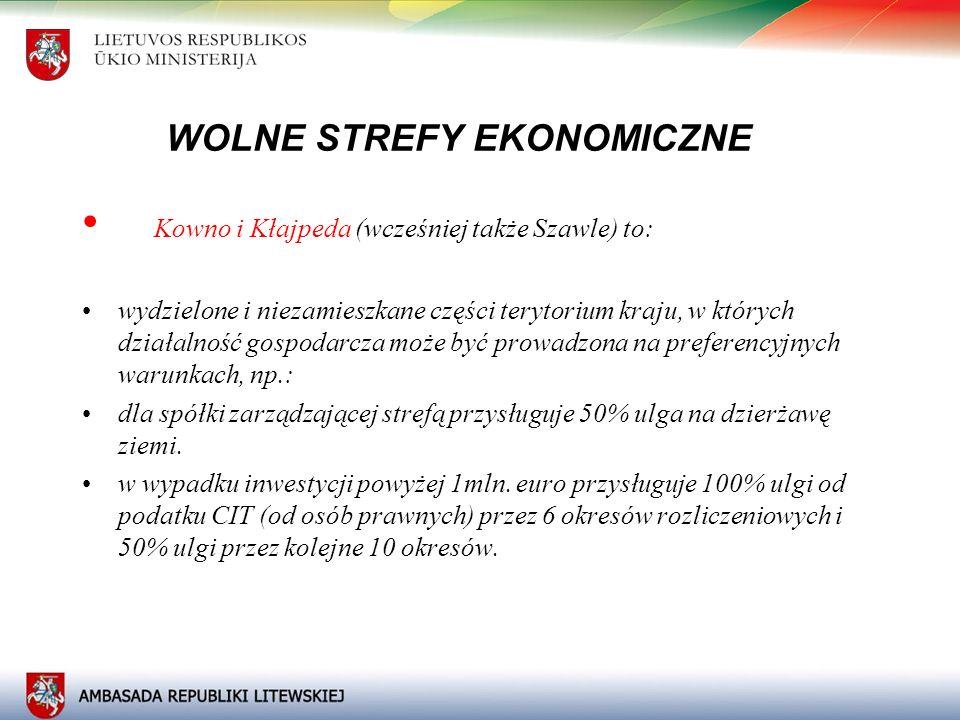 WOLNE STREFY EKONOMICZNE