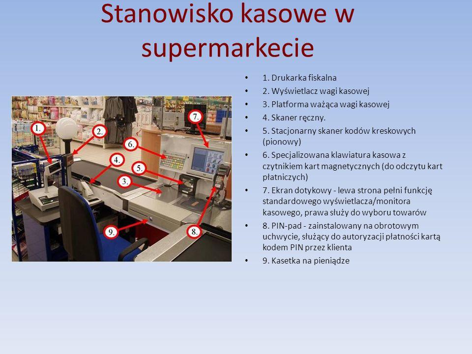Stanowisko kasowe w supermarkecie
