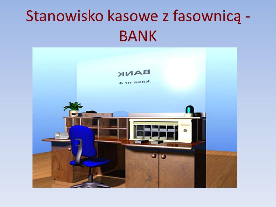 Stanowisko kasowe z fasownicą - BANK