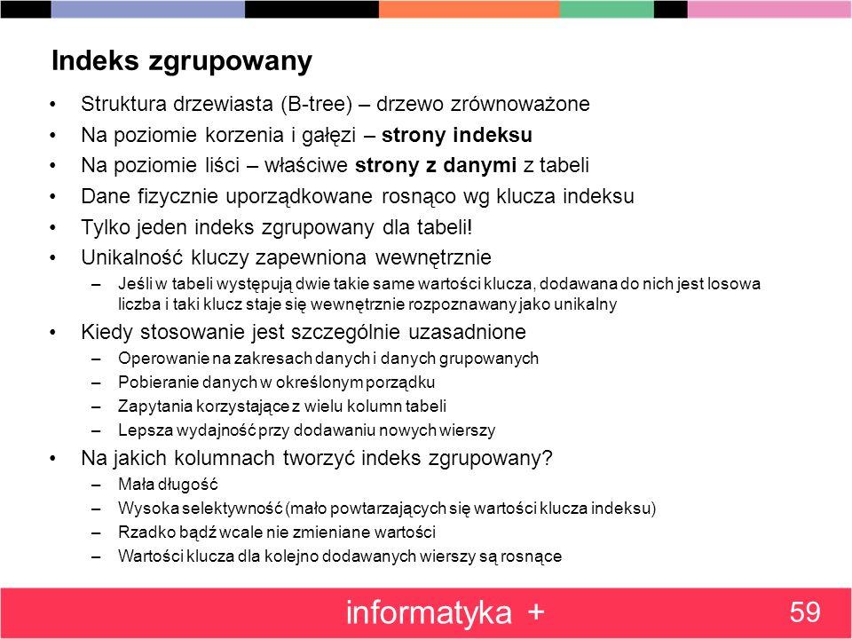 informatyka + Indeks zgrupowany 59