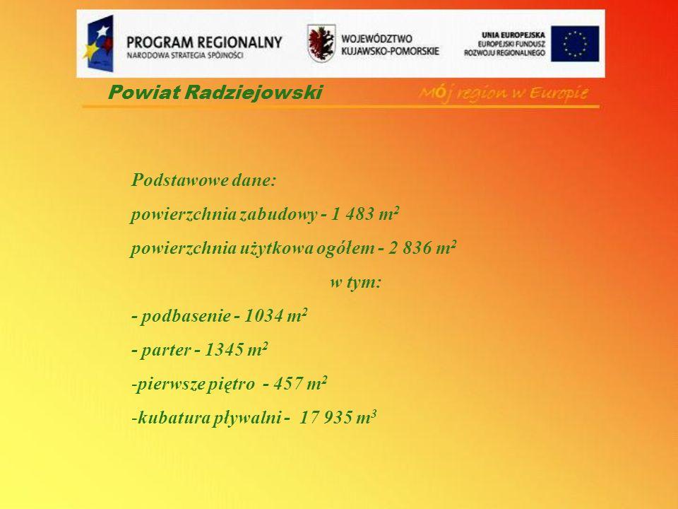 Powiat Radziejowski Podstawowe dane: powierzchnia zabudowy - 1 483 m2. powierzchnia użytkowa ogółem - 2 836 m2.