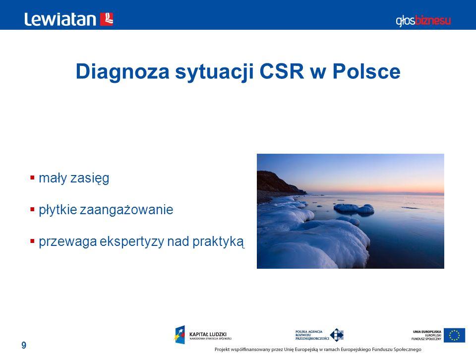Diagnoza sytuacji CSR w Polsce