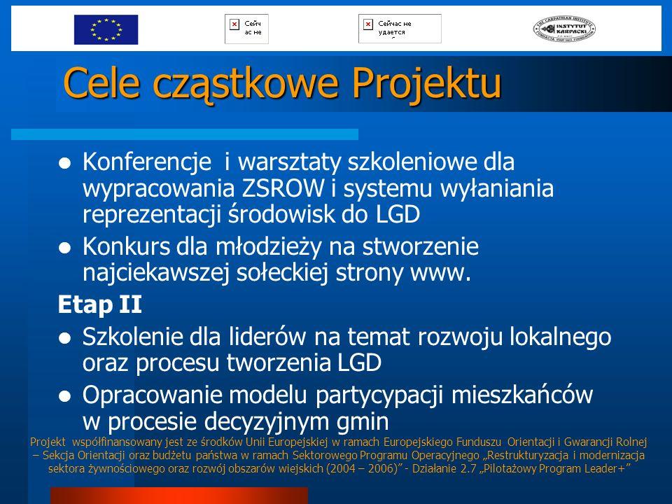 Cele cząstkowe Projektu