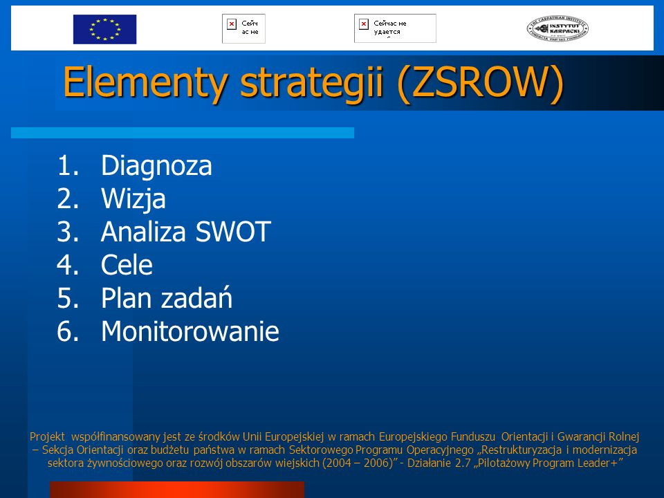 Elementy strategii (ZSROW)