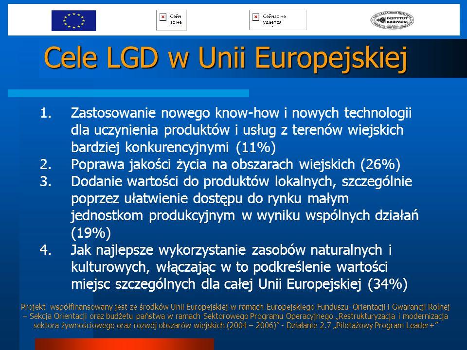 Cele LGD w Unii Europejskiej
