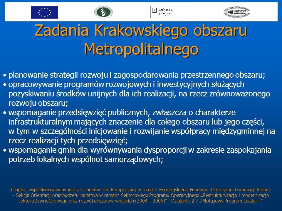 Zadania Krakowskiego obszaru Metropolitalnego