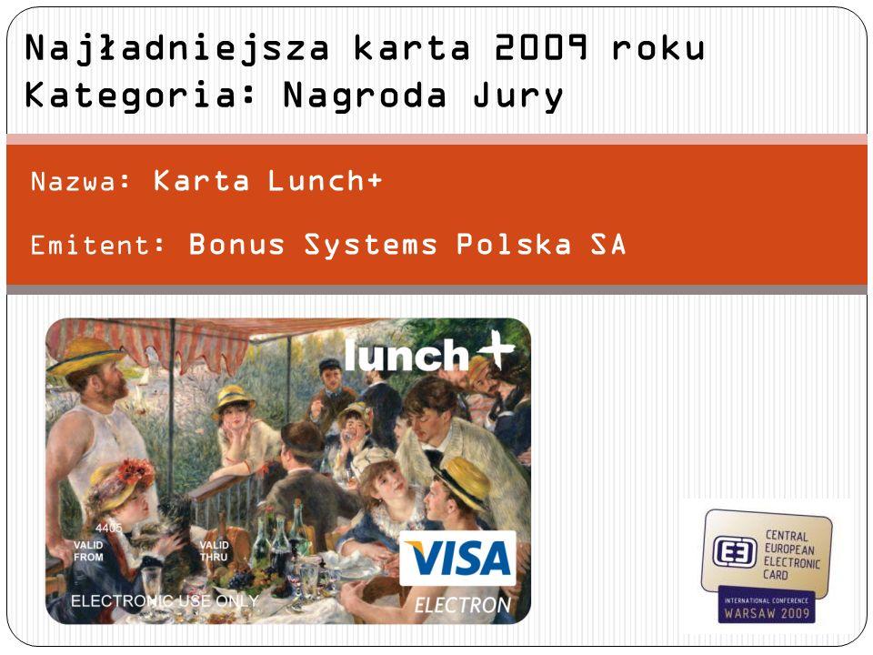 Najładniejsza karta 2009 roku Kategoria: Nagroda Jury