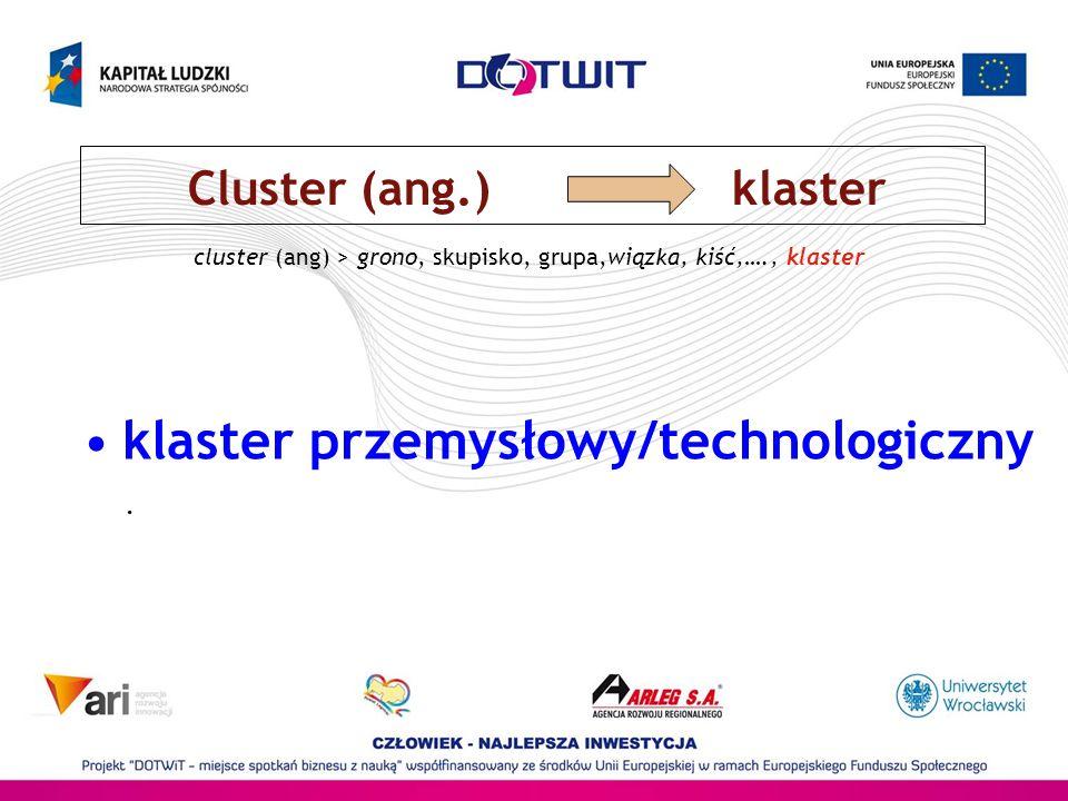 klaster przemysłowy/technologiczny