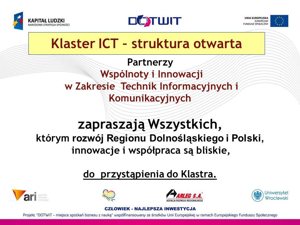 Klaster ICT – struktura otwarta