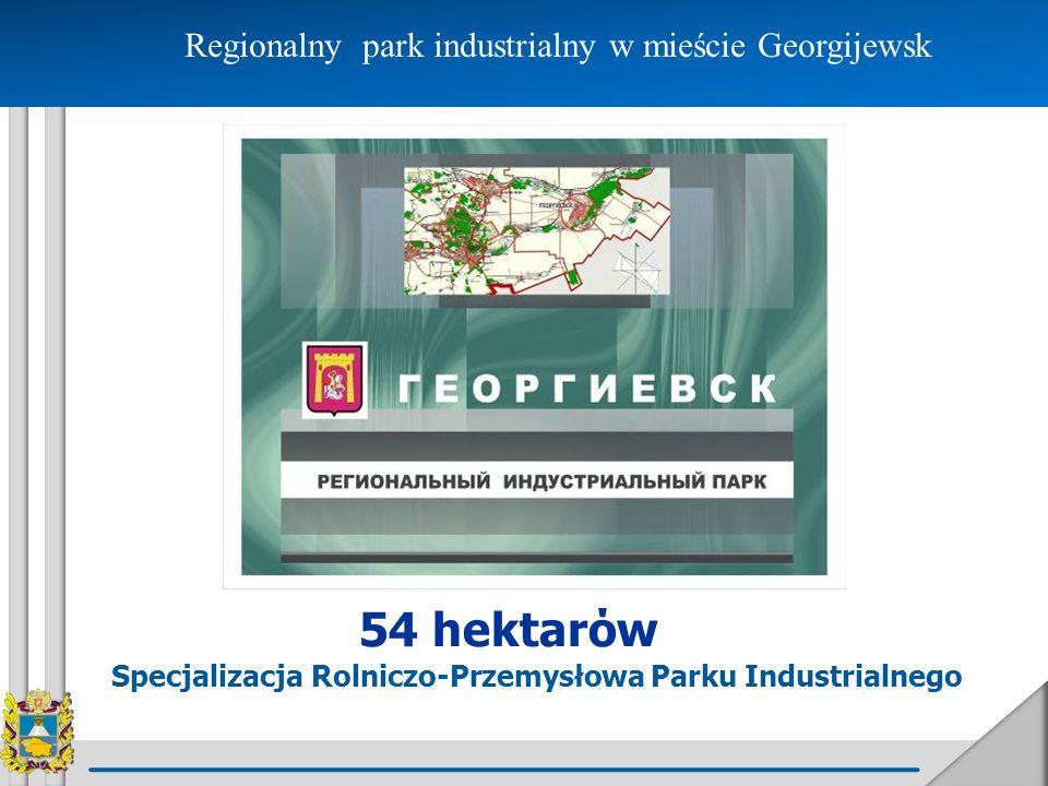 Regionalny park industrialny w mieście Georgijewsk
