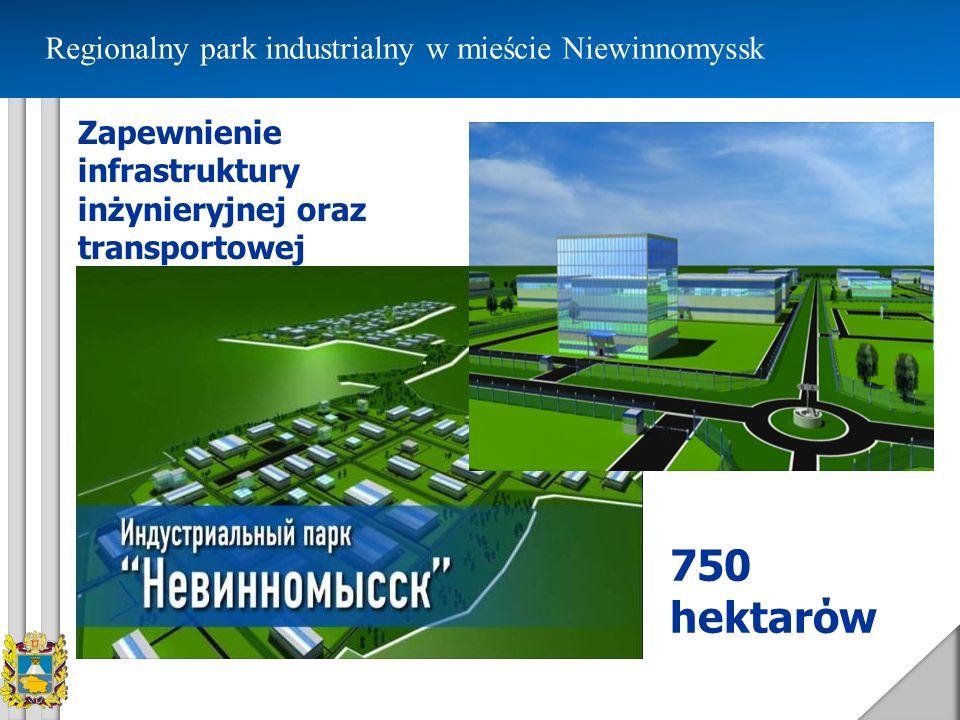 750 hektarόw Regionalny park industrialny w mieście Niewinnomyssk