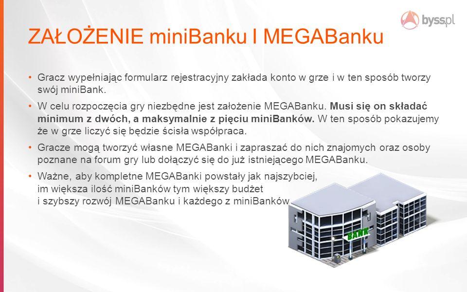 ZAŁOŻENIE miniBanku I MEGABanku