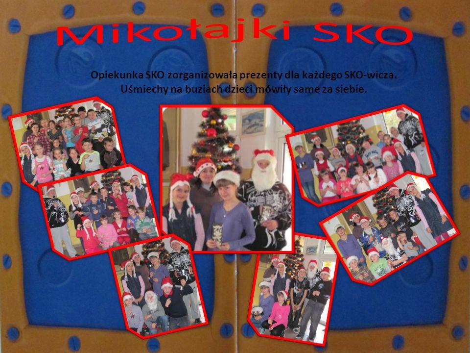 Mikołajki SKO Opiekunka SKO zorganizowała prezenty dla każdego SKO-wicza.