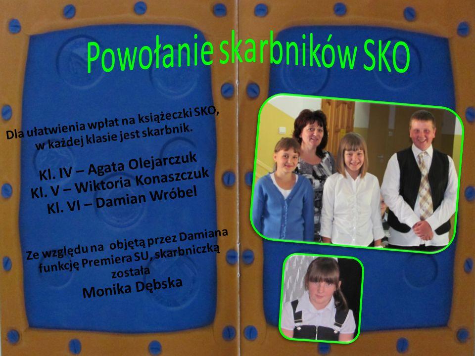 Kl. IV – Agata Olejarczuk Kl. V – Wiktoria Konaszczuk