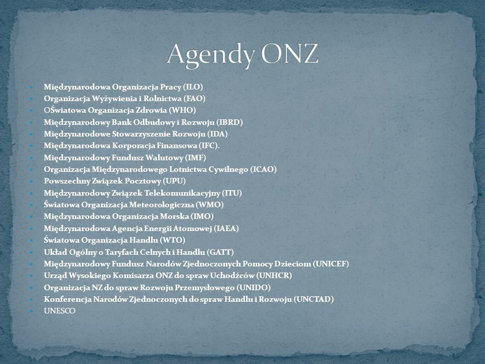Agendy ONZ Międzynarodowa Organizacja Pracy (ILO)