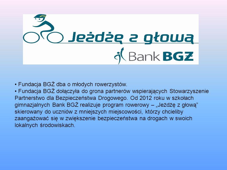 Fundacja BGŻ dba o młodych rowerzystów.