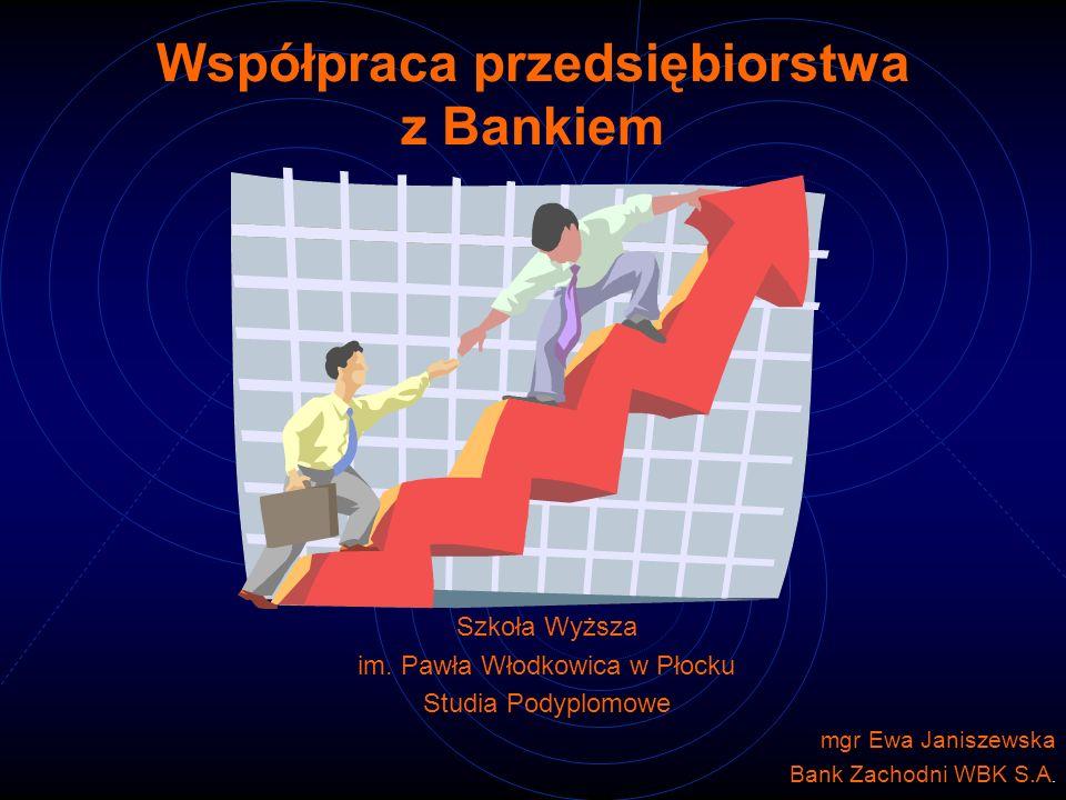 Współpraca przedsiębiorstwa z Bankiem