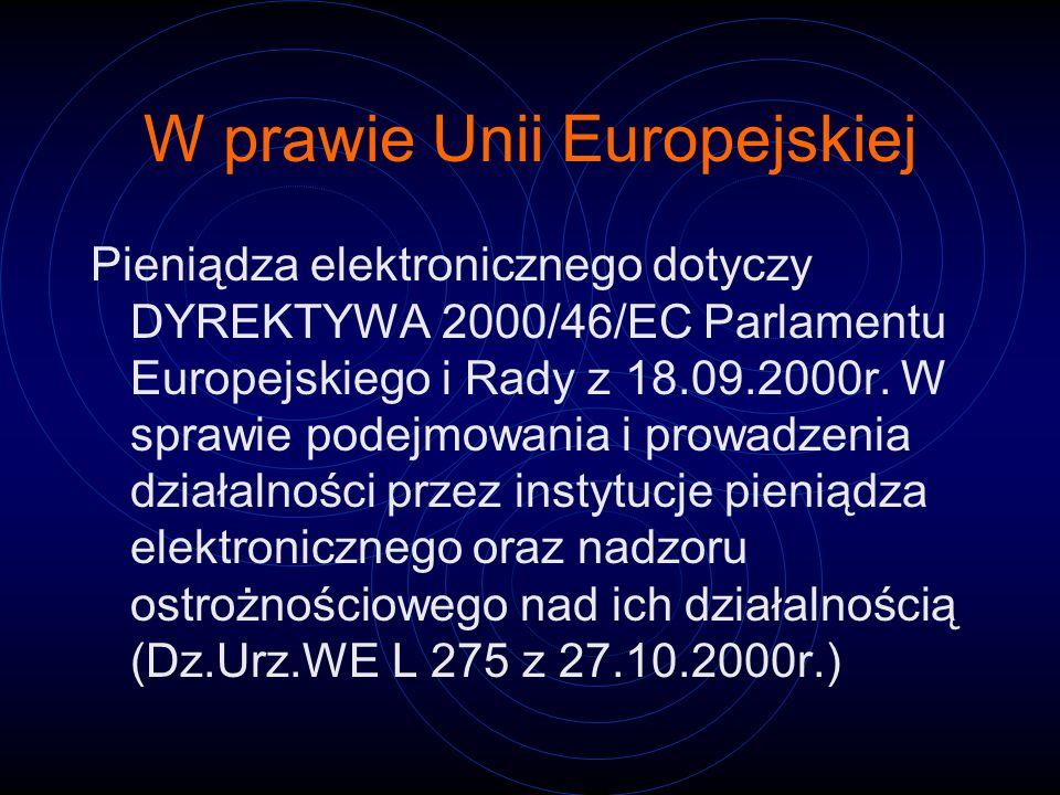 W prawie Unii Europejskiej
