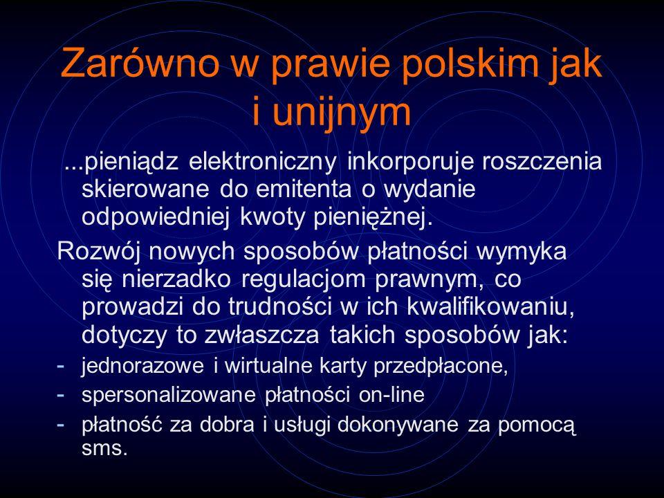 Zarówno w prawie polskim jak i unijnym