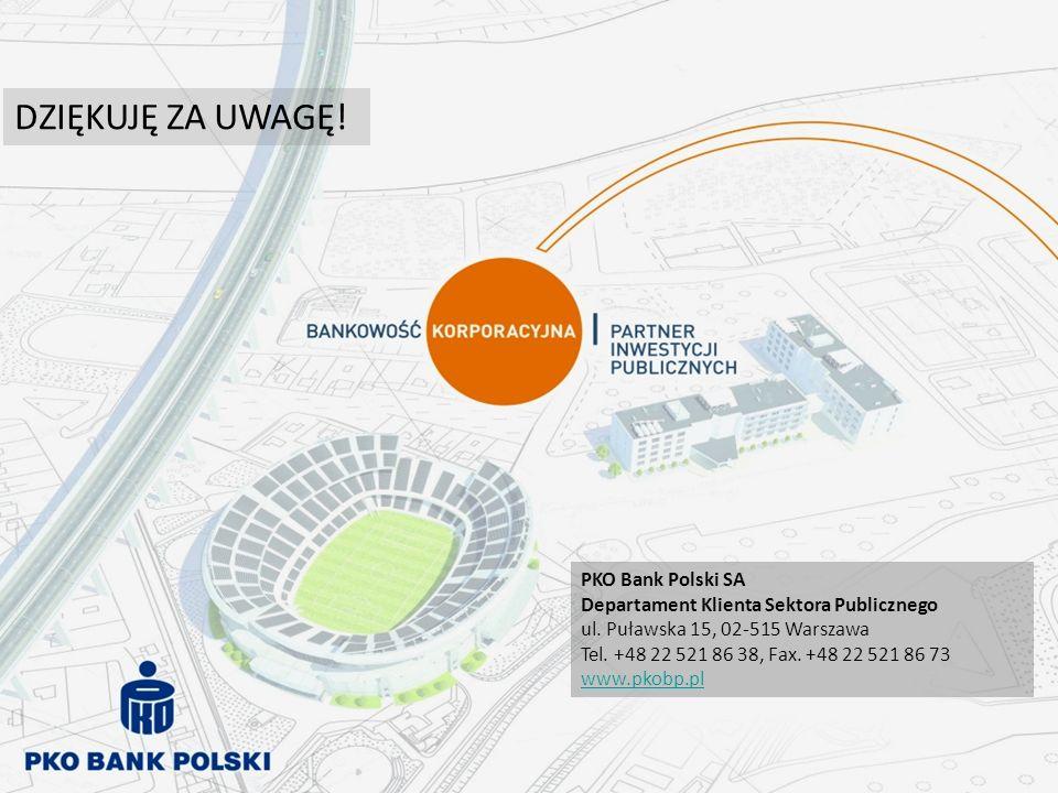 DZIĘKUJĘ ZA UWAGĘ! PKO Bank Polski SA