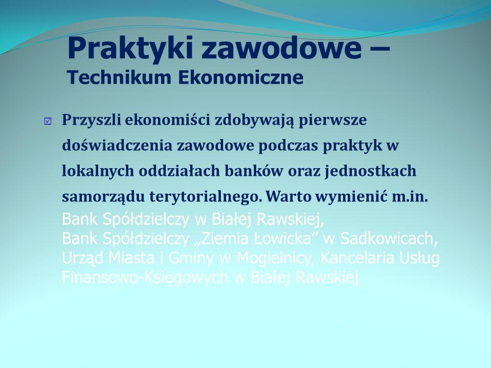 Praktyki zawodowe – Technikum Ekonomiczne