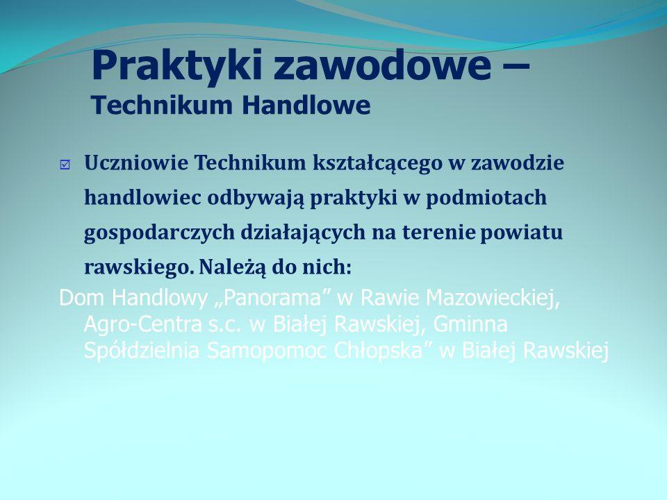 Praktyki zawodowe – Technikum Handlowe