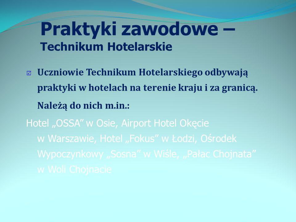 Praktyki zawodowe – Technikum Hotelarskie