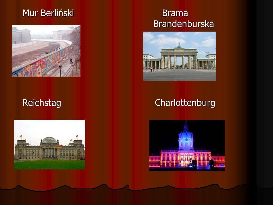 Mur Berliński Brama Brandenburska