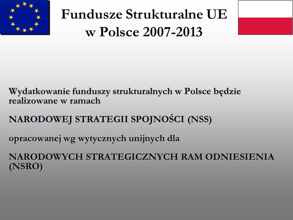 Fundusze Strukturalne UE w Polsce 2007-2013