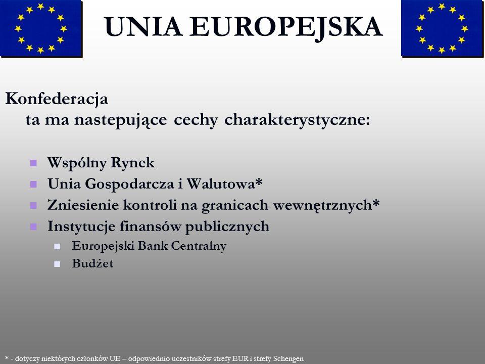 2017-03-28UNIA EUROPEJSKA. Konfederacja ta ma nastepujące cechy charakterystyczne: Wspólny Rynek. Unia Gospodarcza i Walutowa*