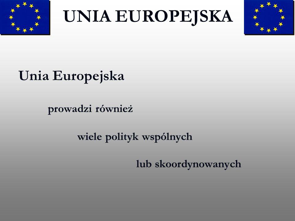 UNIA EUROPEJSKA Unia Europejska prowadzi również