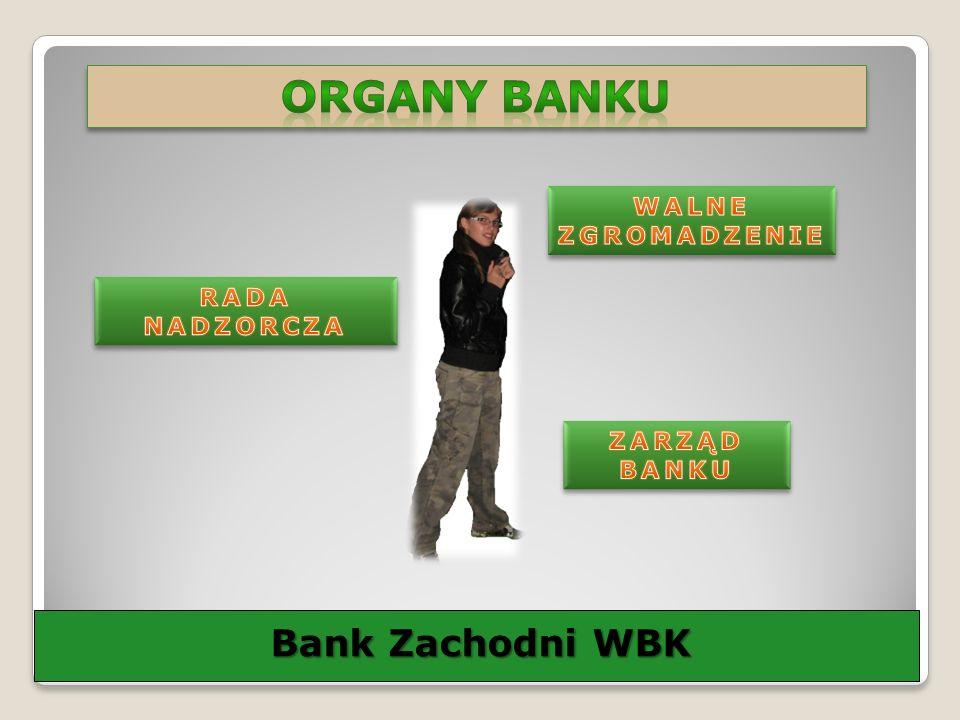 ORGANY Banku Bank Zachodni WBK WALNE ZGROMADZENIE RADA NADZORCZA