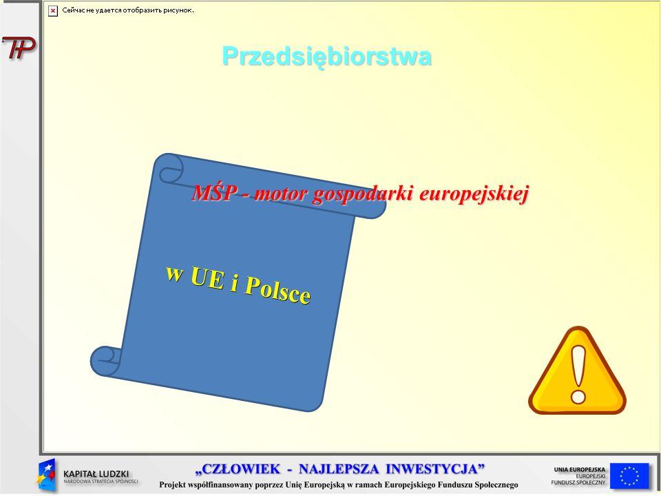 Przedsiębiorstwa w UE i Polsce MŚP - motor gospodarki europejskiej