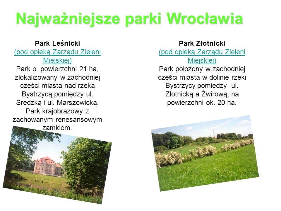 Najważniejsze parki Wrocławia