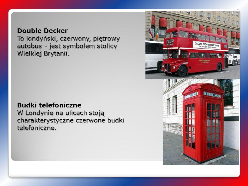 Double Decker To londyński, czerwony, piętrowy autobus - jest symbolem stolicy Wielkiej Brytanii.